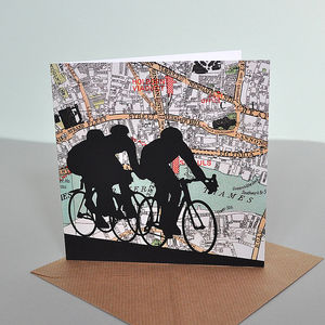 Cycling Card With London City Map - interests & hobbies