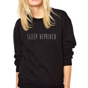 Sleep Deprived New Mum Womens Sweatshirt - women's fashion