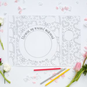 Colour In Placemats Pack For Wedding - table decorations