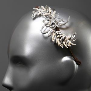 Charlize Bridal Side Tiara - bridal hairpieces