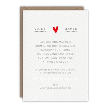 Dotty About You Wedding Invitation