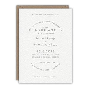 Annabelle Wedding Invitation - wedding stationery