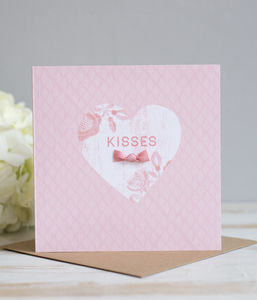 'Kisses' Hand Finished Card