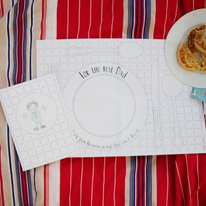 'Daddy' Colour In Card With Placemat