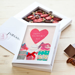 Personalised Valentine's Day Dark Chococard - novelty chocolates