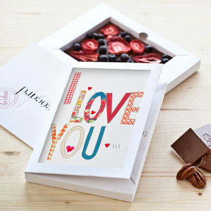 Personalised Valentine's Day Milk Chococard - luxury chocolates