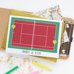 'Love Match' Tennis Card - wedding cards & wrap