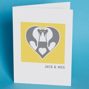 Personalised Penguin Love Card