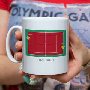 Personalised 'Love Match' Tennis Mug - shop by personality
