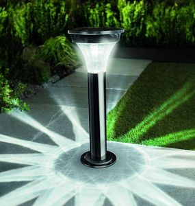 Solar Powered Post Light In Stylish Black Nickel - lights & lanterns