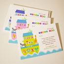 'Noah's Ark' Christening Thank You Cards