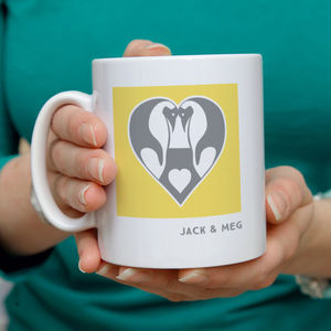 Personalised Penguin Love Mug