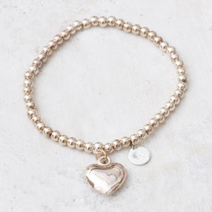Clarisse Rose Gold Personalised Heart Bracelet - gifts for her
