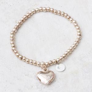 Clarisse Rose Gold Personalised Heart Bracelet - women's jewellery