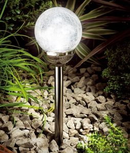 Colour Changing Ice Orb Solar Light In Black Nickel