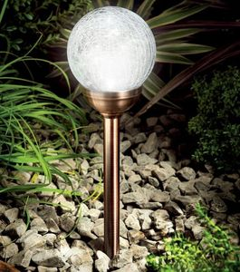 Solar Powered Ice Orb Light In A Striking Copper Finish - lighting
