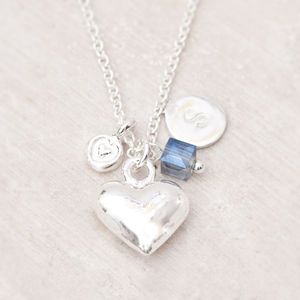 Daisi Silver Heart Personalised Necklace - necklaces & pendants