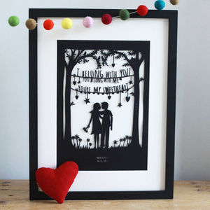 Sweetheart, Papercut Or Print - art & pictures