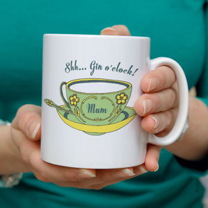 Personalised 'Gin' Vintage Tea Cup Mug - mother's day gifts