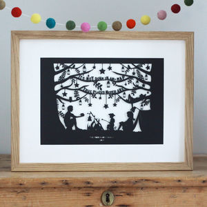 Personalised Camping Print Or Papercut - for fathers