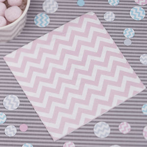 Chevron Pink Small Party Napkins - picnics & barbecues