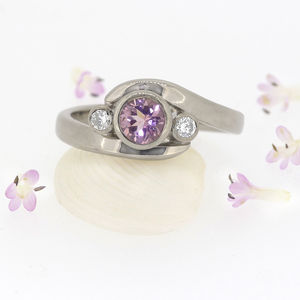 Morganite And Diamond Ring, 18ct Gold Or Platinum - rings