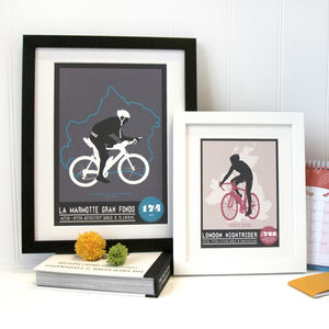 Personalised Bicycle Race Print - gifts for cyclists