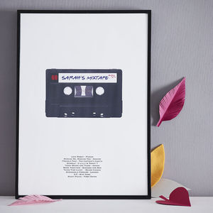 Personalised Mix Tape Print - art & pictures