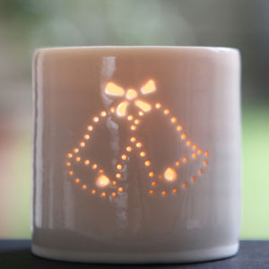 Porcelain Wedding Bells Tea Light - candles & home fragrance