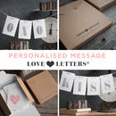Personalised Love Letter Boxed Card
