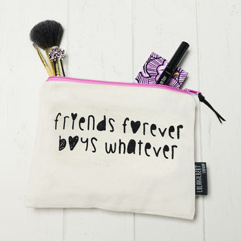 'Friends Forever' Make Up Bag/Pencil Case