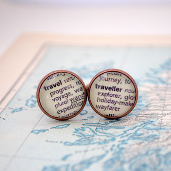Traveller World Travel Cufflinks