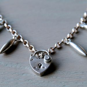 Silver Padlock Charm Necklace
