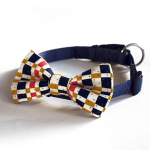 Tartan Dog Bow Tie - dogs