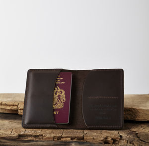 Passport Wallet Personalised With Your Handwriting - passport & travel card holders
