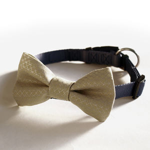 Metallic Dog Bow Tie - pet clothes & accessories