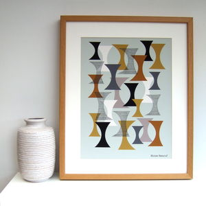 Simple Shapes No2 Giclee Print - modern & abstract