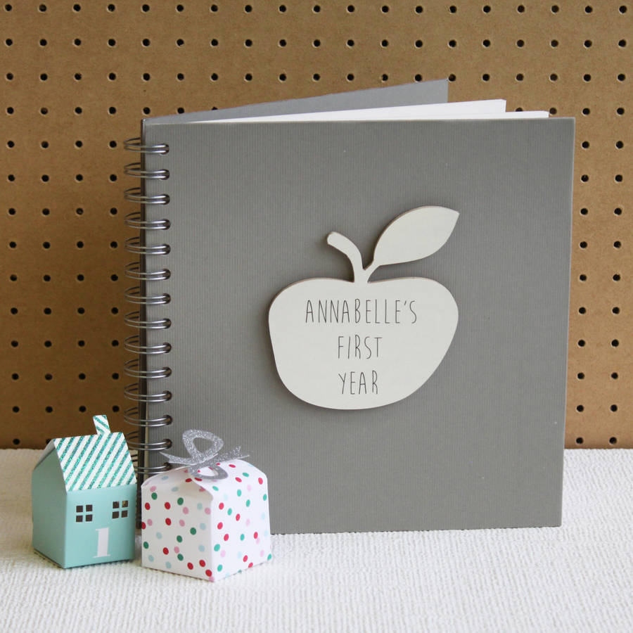 Personalised 'my First Year' Baby Book By Posh Totty