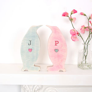 Personalised Engraved Penguins - ornaments