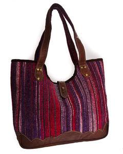 Handmade Buffalo Leather Purple Bag