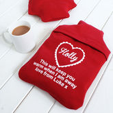 Personalised Hot Water Bottle Cover 'To Keep You Warm' - health & beauty