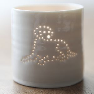 Porcelain Labrador Tea Light