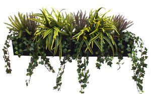 Artificial Heather And Dracaena Window Box - home accessories