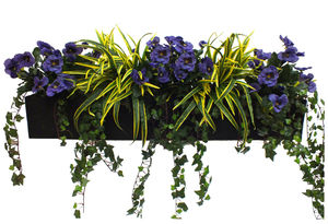Artificial Pansy And Dracaena Window Box - artificial outdoor plants