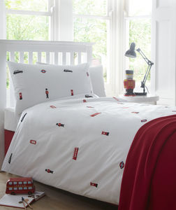 London Embroidered Bed Linen - bedroom