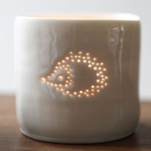 Porcelain Hedgehog Tea Light - tableware
