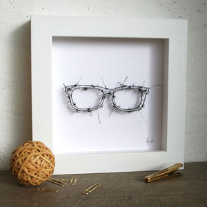 Pin And Thread Glasses Artwork