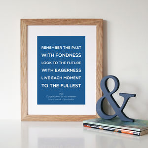 Personalised Retirement Gift Print