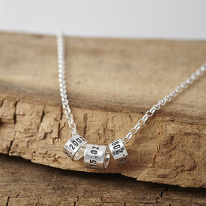 Personalised Men's Silver Storyteller Necklace - 30th birthday gifts