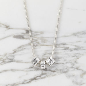 Personalised Women's Silver Storyteller Necklace